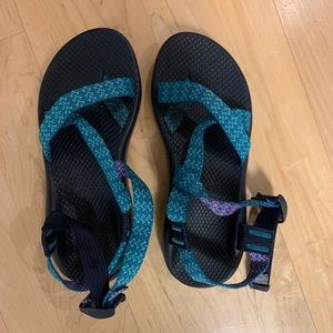 Teal Chaco Sandals